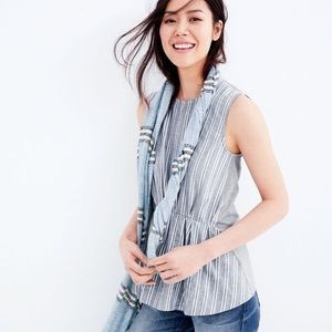 J. CREW | Cinched Striped Tank Top